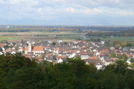 Ringsheim in wine region Ortenau, Germany