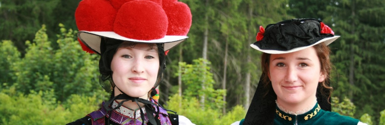 Nature park Black Forest - Woman in traditional Dirndl
